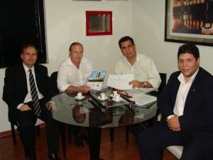 Reunião com o Prefeito de Porto Ferreira, Maurício Rasi.