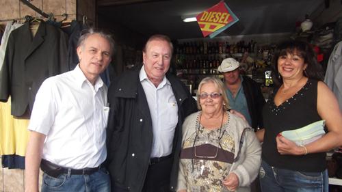 Prof. Lindberg, Eymael e Ana Lucia, visitam Vila Guilherme