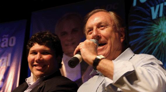 Samuel Lourenço – Presidente Municipal PSDC e José Maria Eymael
