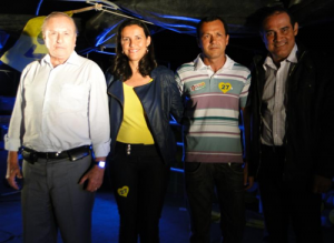 José Maria Eymael, Sara Helem, Dárcio e Antônio Albino