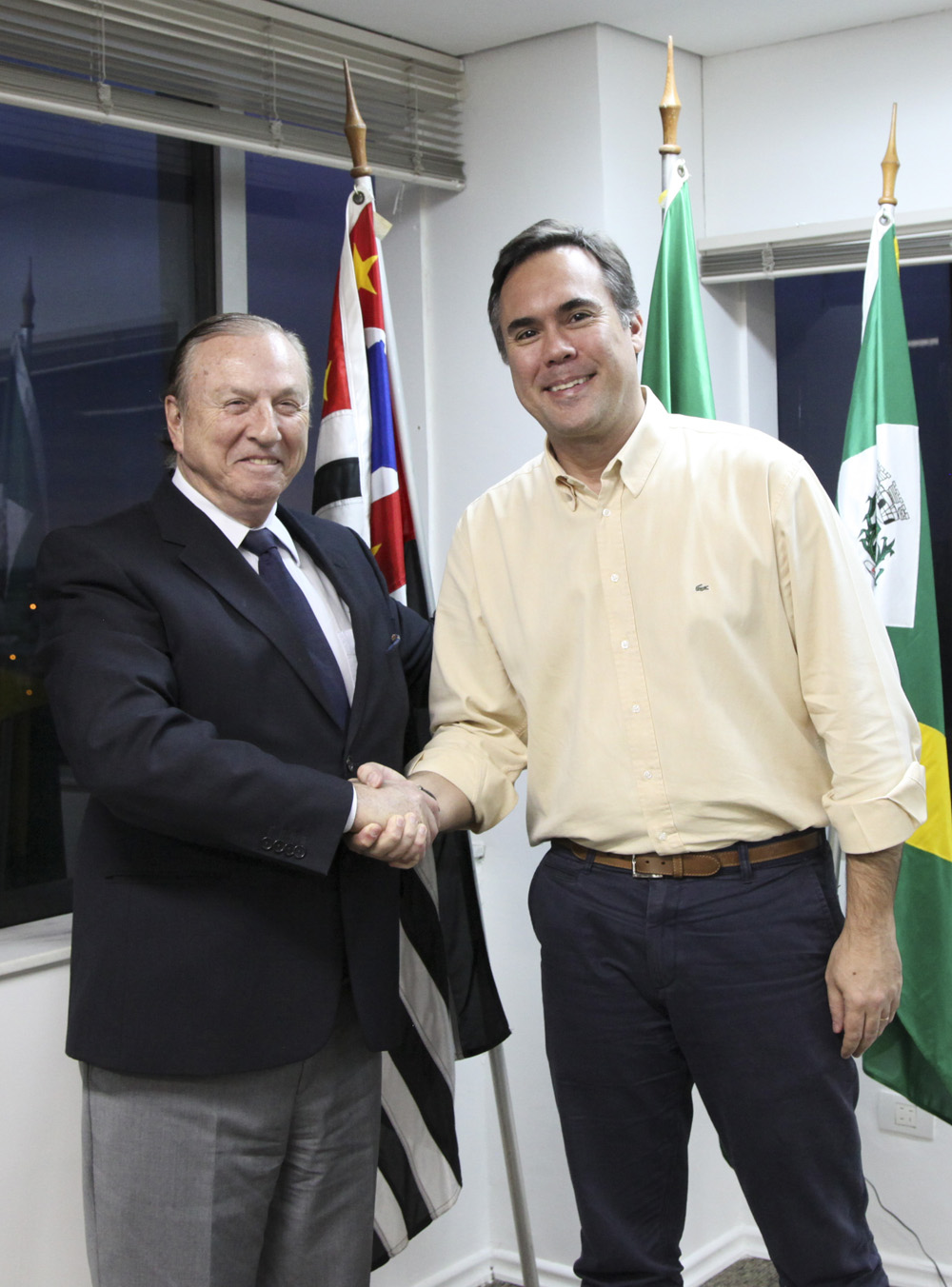 Eymael oferece apoio ao prefeito Andia
