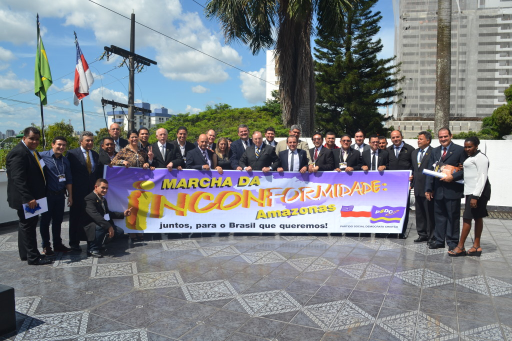 A Marcha da Inconformidade na reunião de lideranças Democratas Cristãs de todo o Brasil na cidade de Manaus, no Amazonas.