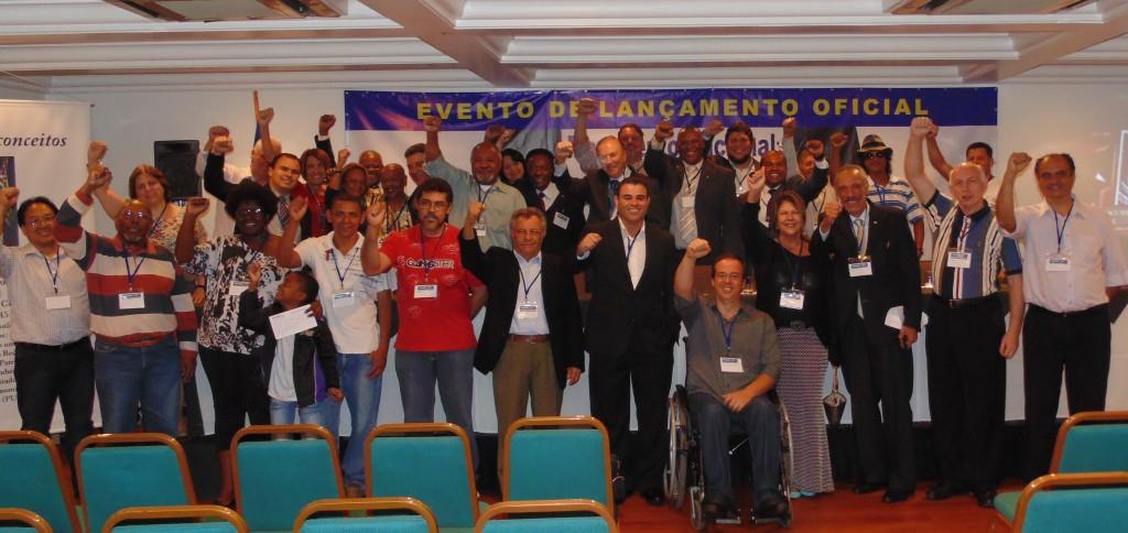 O Presidente da Executiva Nacional, José Maria Eymael e correligionários dão as boas vindas a Diretoria do movimento contra todo tipo de Racismo.