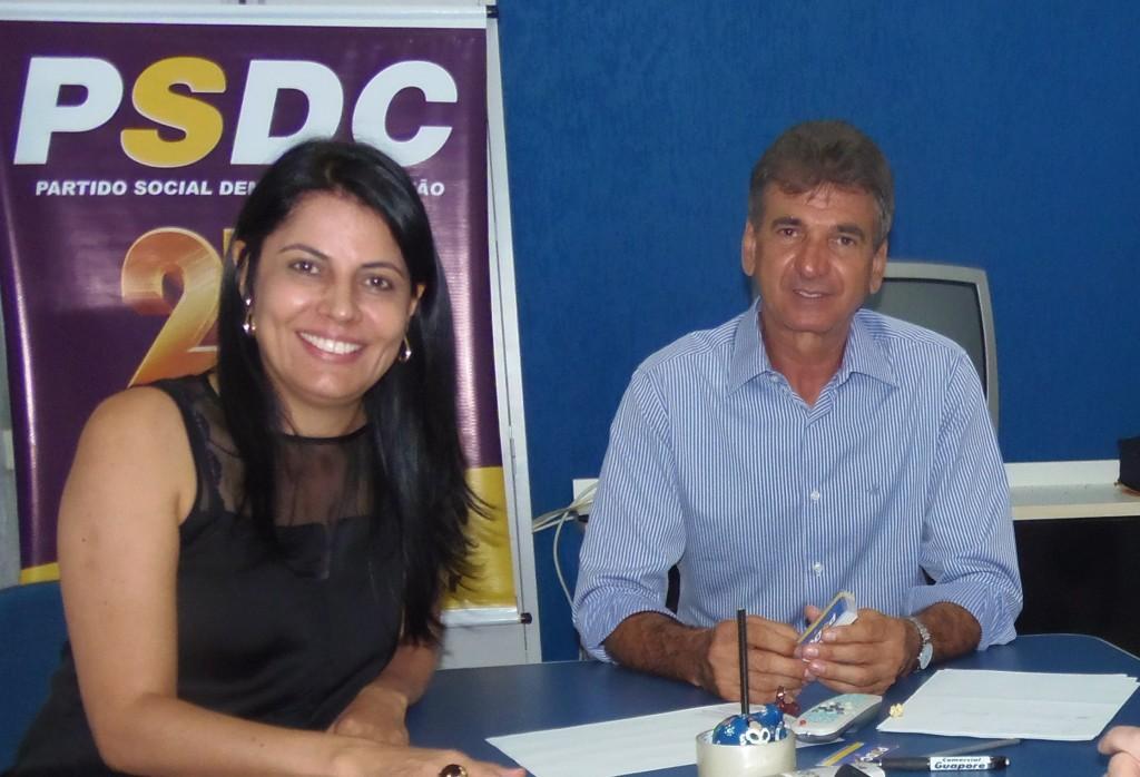 O Pré-Candidato ao Governo de Rondônia, Neodi Carlos, e a Deputada Estadual Glaucione Rodrigues