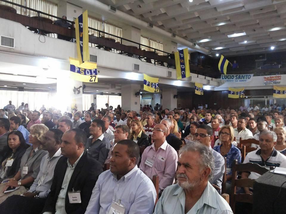 Militantes do PSDC compareceram em massa ao Chamado da Democracia Cristã