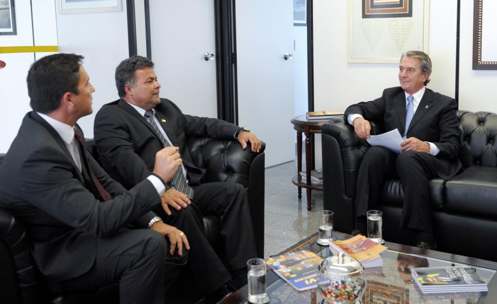 PSDC cresce em Alagoas. Presidente Estadual do partido, Eudo Freire, acompanhado de seu vice, Luciano Cabral, em reunião com o Senador Fernando Collor de Mello, analisam o cenário eleitoral do estado.