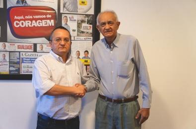 O senador Pedro Taques, pré-candidato ao governo de Mato Grosso e Josmar Alderete, Presidente do Diretório Estadual de MT do PSDC.