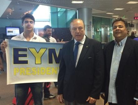 No desembarque no aeroporto Zumbi dos Palmares, em Maceió, a recepção calorosa de lideranças e correligionários Democrata Cristãos alagoanos.