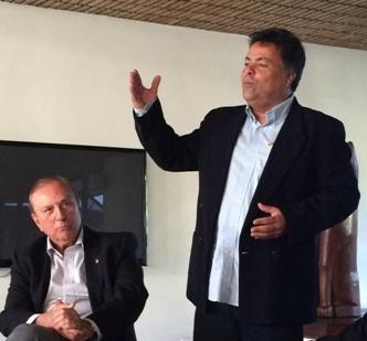 Com o Presidente do Diretório estadual de Alagoas Eudo Morais.
