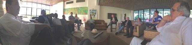 Em reunião com os lideres da Democracia Cristã do Estado de Alagoas.