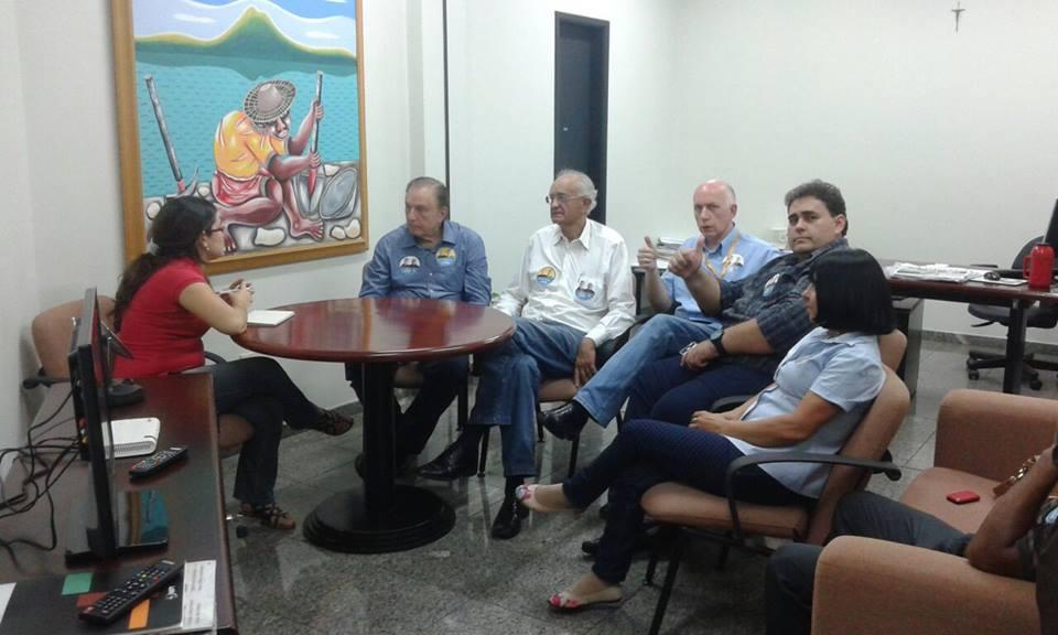 Em Cuiabá, última escala das visitas estaduais, Eymael acompanhado pelo Presidente Estadual do PSDC Josmar Alderete, visitou a redação do jornal A Gazeta entre outros compromissos.