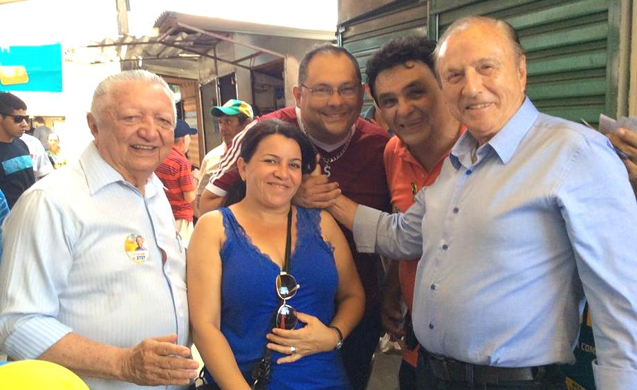Acompanhado pelo Presidente Estadual do Rio Grande do Norte e candidato a deputado federal, Joanilson de Paula Rêgo, Eymael é calorosamente recebido nas ruas de Natal.