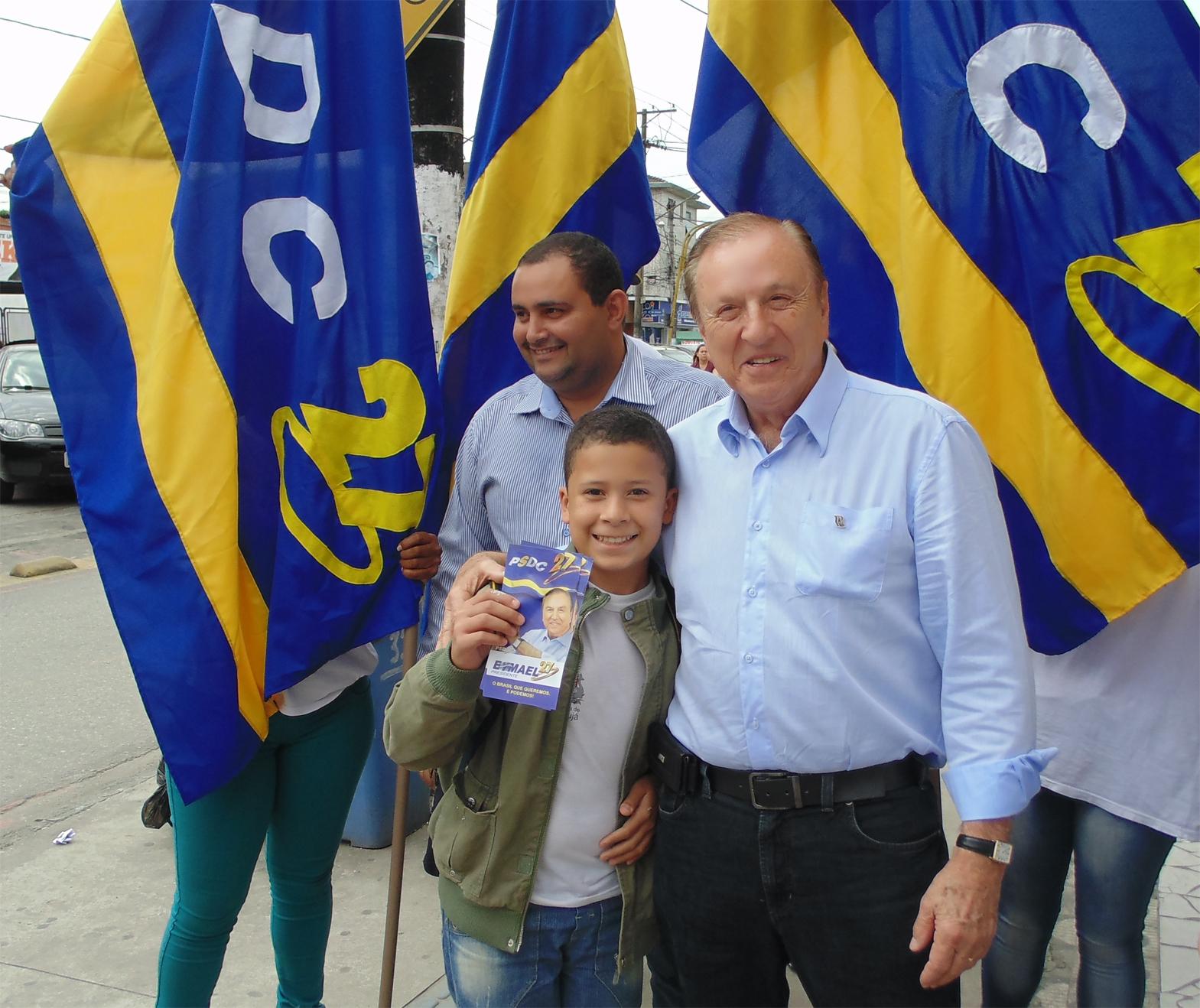Eymael e um futuro Democrata Cristão do Litoral Sul.