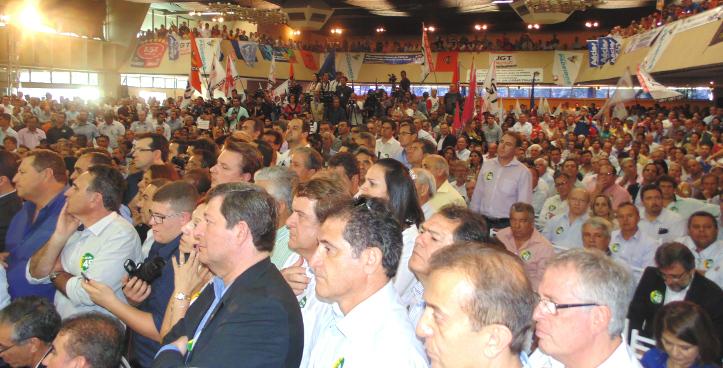 O salão do Clube Espéria lotado para ouvir as palavras do então candidato a Presidência da República Aécio Neves. ( Foto: Assessoria de Comunicação PSDC)