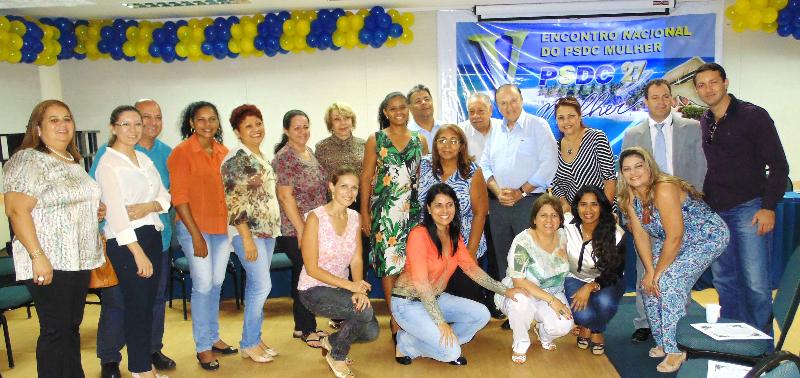 Lideranças do PSDC Mulher, ao lado do Presidente Nacional do PSDC José Maria Eymael e de Presidentes de Diretórios Estaduais de varias unidades de federação.