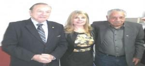Na foto o Deputado Federal Constituinte Jose Maria Eymael advogada Rejane Mattos, presidente do PSDC Mulher Rio Grande do Sul e o Presidente do Diretório Estadual gaucho Luis Carlos Coelho Prates