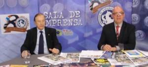 Eymael durante entrevista com Sergio Redó no Programa Sala de Imprensa