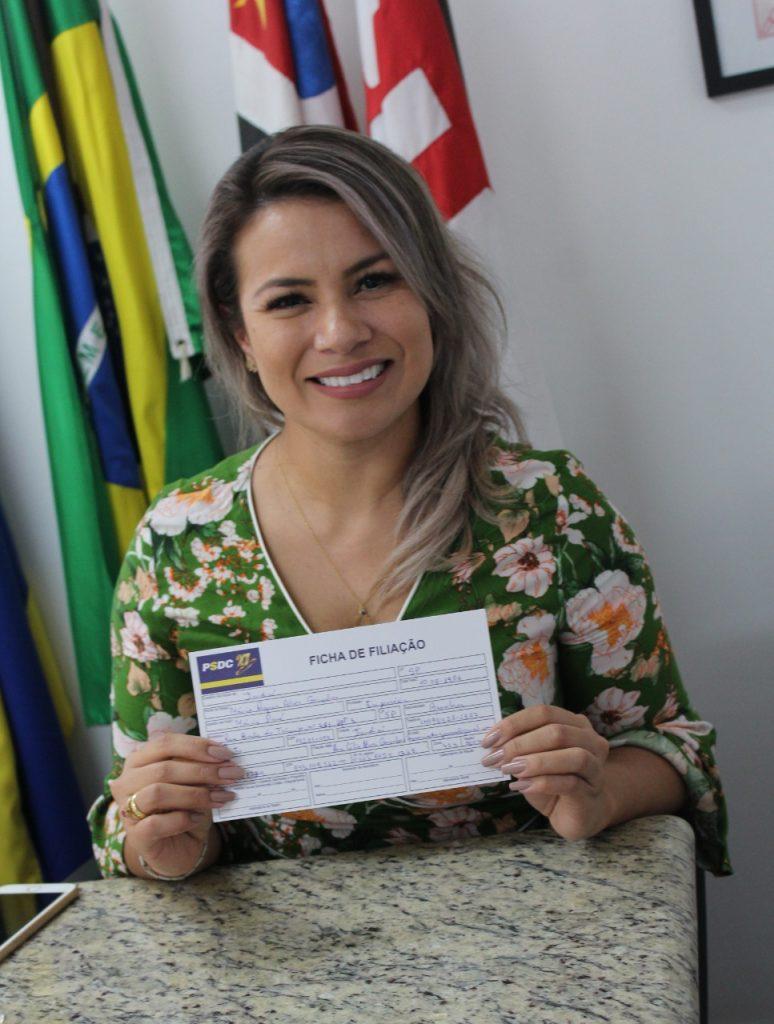 A pré-candidata a prefeitura de jundiaí pela DC, Márcia Pará.