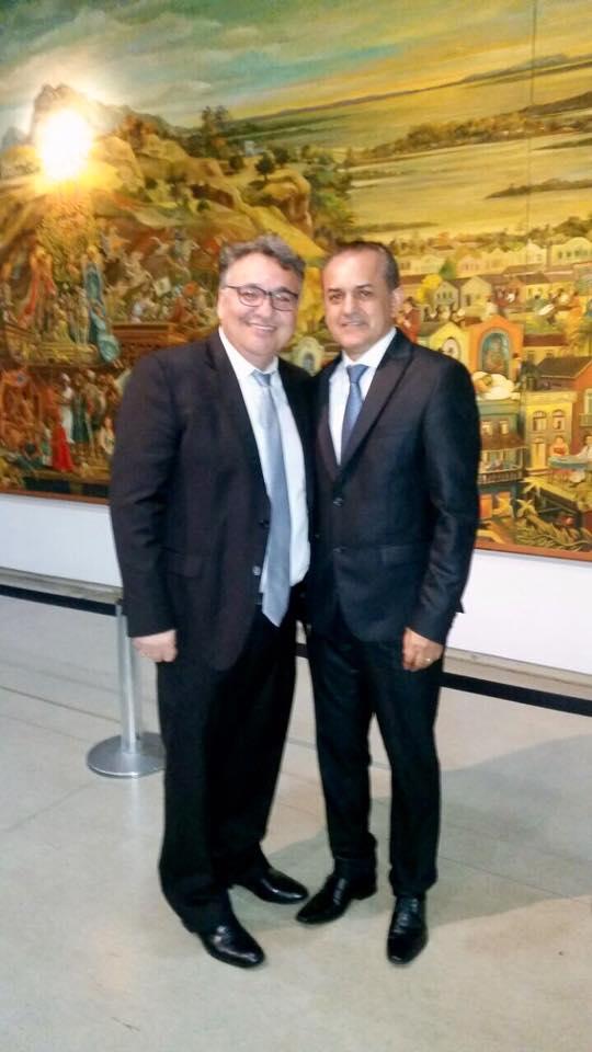 João Corujinha (dir.) nosso Presidente Estadual na Paraíba e Vereador em João Pessoa (PB)