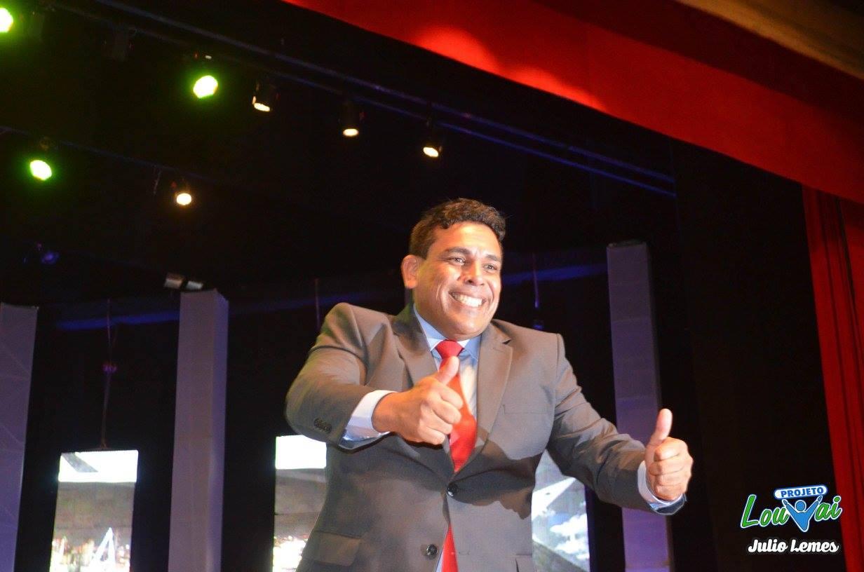 O vereador Anderson Sales Bocão em Goiânia (GO)